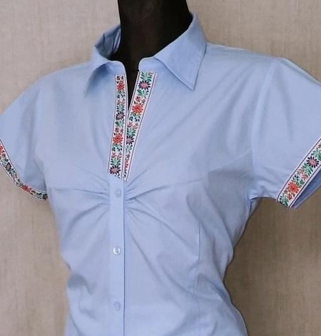 Dámska košeľa so stuhou na rukávoch   PARTA