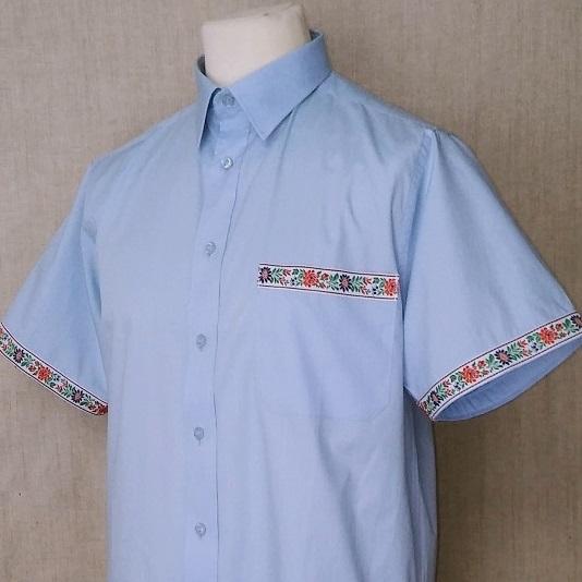 Pánska košeľa so stuhou na rukávoch a náprsnom vrecku   PARTA