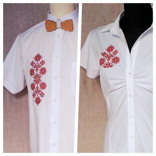 Set pre páry - košeľa dámska a pánska s výšivkou | PARTA