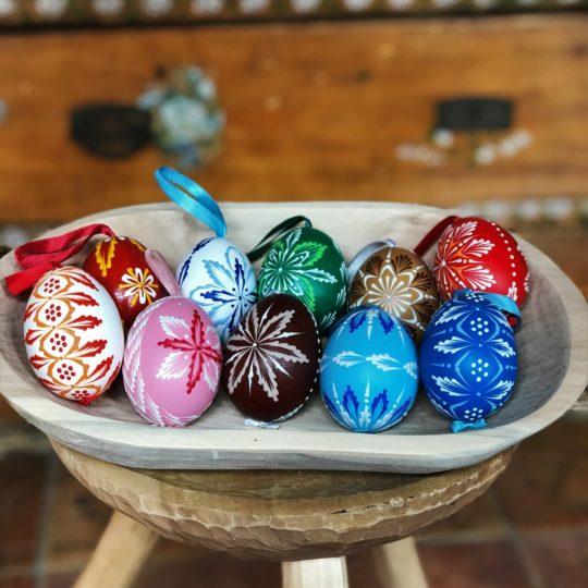 Veľkonočné kraslice SET 10kusov ručne maľované / zdobené.
